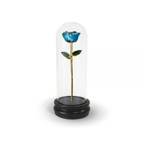 Light Blue Rose Gifts with Premium Glass Dome - Infinity Rose USA